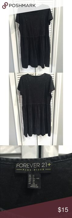 Forever21+ Black Skater Dress Forever21+ Acid washed black skater dress. All prices are negotiable but please use the OFFER button in order to make me a different offer. I will do bundles just let me know what you are interested in but NO trades  Forever 21 Dresses