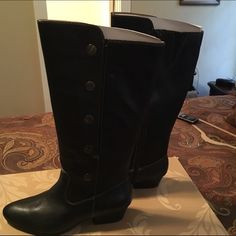 Black Sofft Boots Black Sofft Boots 1 3/4 inch Heel.  Circumference 15 inches. Shaft 14 inches Sofft Shoes Winter & Rain Boots