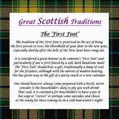 Great Scottish Traditions - The first foot - Hogmanay