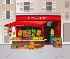 Les commerces en français - Débutant - Vocabulaire Français | Apprentissage du Français FLE, FOS | Scoop.it