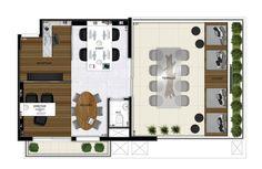 Oscar Freire Design Offices - Planta sala garden.