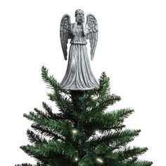 Don't even blink. Or this Doctor Who Weeping Angel Christmas Topper will get you. It's okay if your Christmas light blink as long as you don't. This tree topper adds so Angel Christmas Tree Topper, Christmas Angels, Christmas Lights, Christmas Ornaments, Christmas Trees, Christmas Crafts, Merry Christmas, Blue Christmas, Xmas Tree