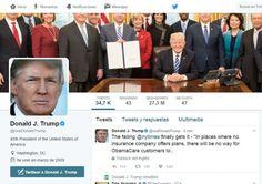 Una plataforma intercambia tuits de Donald Trump por donaciones sociales