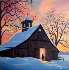 easy winter acrylic paintings | Simple Winter Landscape Paintings Course the snow is finally