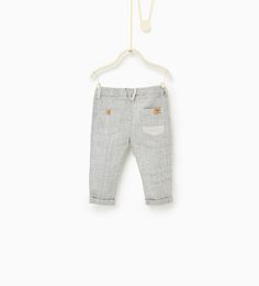 currently available at ZARA - KIDS - Grey marl trousers