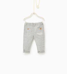 ZARA - KIDS - Grey marl trousers