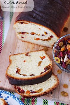 Dried Fruit Swirl Bread from @RoxanaGreenGirl | Roxana's Home Baking | Roxana's Home Baking