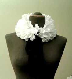 white collar/ collar for dress /ruffle collar /detachable collar /Gothic collar /collar-boa /accessory for dress / gift,present for women / by dimarena on Etsy