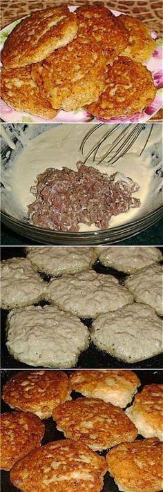 ЛЕНИВЦЫ на сковороде - очень быстрые и вкусные беляши или пирожки! **Тесто: в подогретый кефир 2стак+сода 0.5ч/л, размешать.…