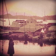 Little girl in little harbour. Elba Island. - @ilaria_agostini- #webstagram