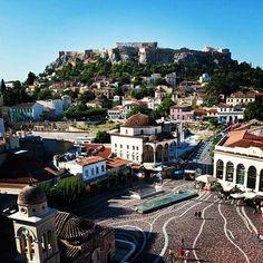 Monastiraki Square with great view of Acropolis!!!!