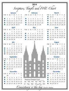 Scripture Reading Habit Made SUPER EASY…2014 Scripture Chart!!!!