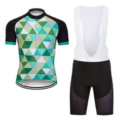 Mens Road Bike Team Cycling Jersey Tops Short Sleeve Bib Shorts Sets Pad  DKGEMN  Unbranded fb036456c