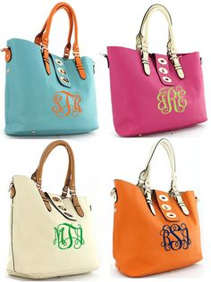 Our new FAV, 2 bags in 1!! Brand new to the shop, Monogrammed Shoulder Totes are the perfect bag for Spring