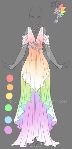 Rainbow Greek or Roman style dress