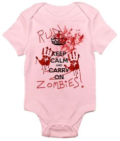 Run Zombies One-piece Baby Bodysuit