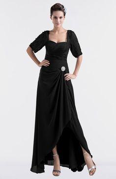 160f9c6d31e Black Modest Sweetheart Short Sleeve Zip up Floor Length Plus Size  Bridesmaid Dresses at a discount