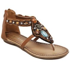 Casual Beading and Flip Flop Design Sandals For Women Flat Gladiator Sandals, Sexy Sandals, Shoes Sandals, Beaded Shoes, Beaded Sandals, Wedge Boots, Shoe Boots, Beautiful Sandals, Jeweled Sandals