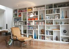 Trendy home office furniture wall units ideas Desk In Living Room, Living Room Shelves, Living Room Decor, Bookcase Shelves, Wall Storage Shelves, Book Shelves, Small Space Interior Design, Home Office Furniture, Furniture Storage