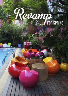 Summer has sprung, it's time to sit outdoors again #revamp #design #colour #modern #pool