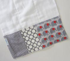 Baby Burp Cloths - Modern Elephants / Gender Neutral Burp Cloth / Premium Cotton Prefolds via Etsy