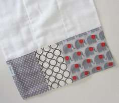 Baby Burp Cloths - Modern Elephants / Gender Neutral Burp Cloth / Premium Cotton Prefolds via Etsy