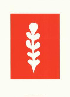 Palme Blanche Sur Fond Rouge, c.1947