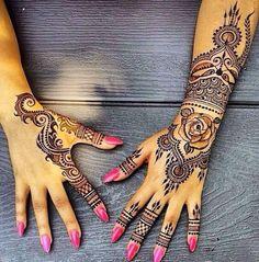 edgy henna designs