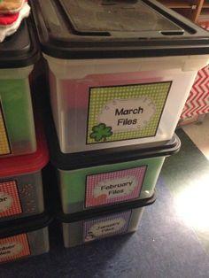 Organizing classroom resources
