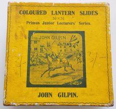 John Gilpin - Full Box Set of 8 Antique Magic Lantern Slides - Primus