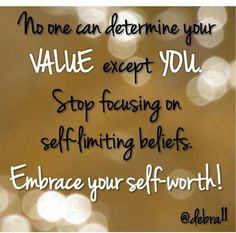 Embrace your self-worth!