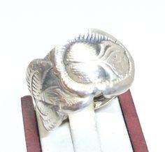 Antiker Rosenring Silberring  Gr. 20,8 mm SR136 von Atelier Regina auf DaWanda.com