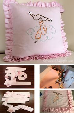 Frilly pink pillow (free pattern)
