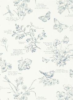 427ecaeaa2ed1b Ralph Lauren Tapete Nature Study Toile - Elderberry Moderne Wandgestaltung