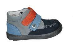 4bef56ab88a #kids #footwear Μποτάκι Mούγερ δερμάτινο/σαμουά για τα πρώτα βήματα, μπλε/