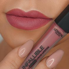LOréal Infallible Liquid Lipstick in shade Petal Potion Vollere lippen Nyx Lingerie Liquid Lipstick, Lipgloss, Lipsticks, All Things Beauty, Beauty Make Up, Hair Beauty, Lipstick Shades, Lipstick Colors, Kiss Makeup