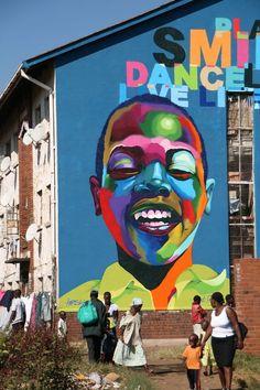 Street art by Karski in Zimbabwe