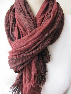 Men's scarf,Wine red burgundy stripe,Long scarf, Scarves 2013 fashioN,women,MAN SCARVES ,crinkle viscose scarf