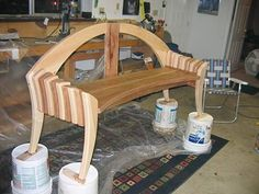 Maple and Cherry Garden Bench - Woodworking | Blog | Videos | Plans | How To