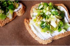 #Toasted goat's #cheese and leek