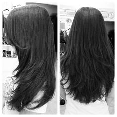Long Layers Straight Hair The Effective Pictures We Offer You About lo Choppy Layers For Long Hair, Long Hair With Bangs, Long Hair Cuts, Hair Layers, Haircuts For Medium Hair, Long Layered Haircuts, Straight Hairstyles, Cool Hairstyles, Long Layer Hairstyles