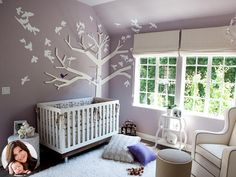 Lavender Nursery - but with black accents instead??