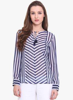 RIDRESS  Striped Blouse