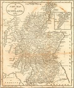 Map Antique. A New Map of Scotland 1789. J. Cary. 1811 London. Repaired tear, browned. Reduced from his wall map?