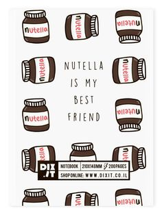 Nutella Notebook Are you hungry Look into the Nutella ( but not during lent ) Nutella Recipes, Desserts Nutella, My Favorite Food, My Favorite Things, Hazelnut Spread, Perfect Food, Sweet Bread, Love Food, Really Cool Stuff