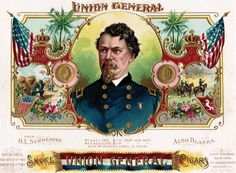 Looking back on this Memorial Day to salute some of the historic, mostly heroic, Civil War generals--with names like Jubal, Zealous and Speed. Cigar Box Art, Vintage Cigar Box, Cigar Boxes, Vintage Labels, Vintage Cards, Vintage Posters, Civil War Heroes, Cigar Gifts, Cigar Shops