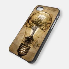 Abstract Tree in Light Bulb for iPhone 4/4s/5/5s/5c, Samsung Galaxy s3/s4 case