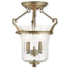 View the Livex Lighting 50921 Cortland 2 Light Semi Flush Ceiling Fixture at LightingDirect.com.