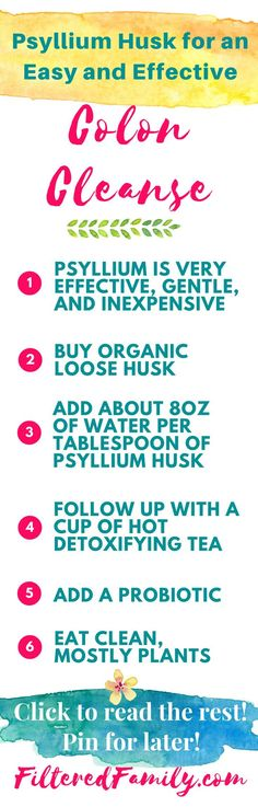 This is a great and super effective cleanse that anyone can do and doesn't cost much! Just use psyllium husk and add a few other things and poof! Great if you are backed-up or just been eating lousy lately! --- Psyllium Husk Colon Cleanse | via http://FilteredFamily.com