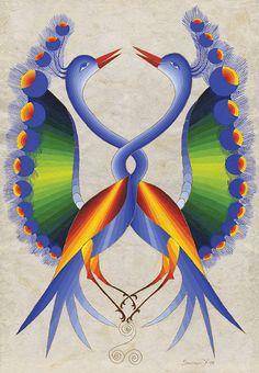 Peacocks Intertwined by Seeroon Yeretzian